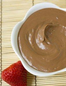 Nutella fruit dip with greek yogurt