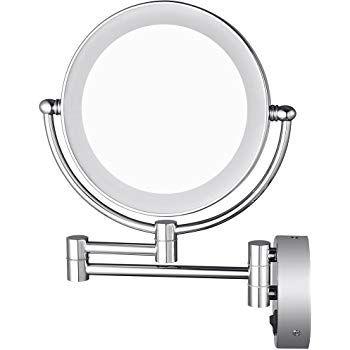 Aechoo specchi bagno specchio da trucco con montaggio a parete specchio illuminato a led 10 x - Specchio trucco illuminato ...