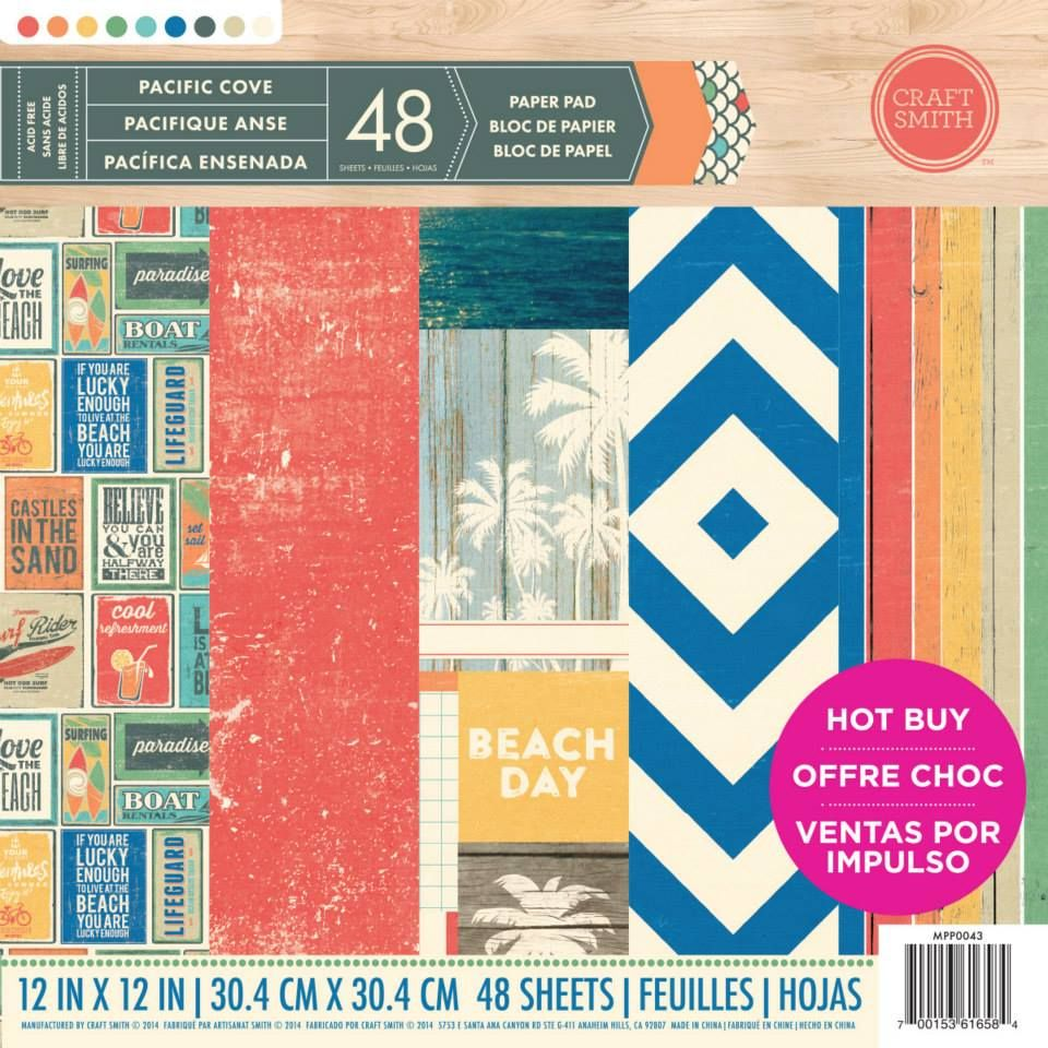 New From Craft Smith Pacific Cove Printed Paper Pad Available