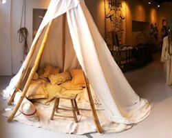 This cool tent from 'Sukha' a store in Amsterdam would be perfect for rainy weather!