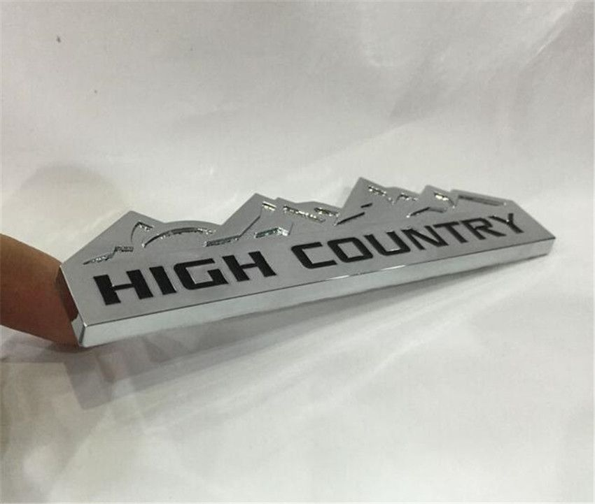 Car Metal Refit 3d Silver High Country Sticker Emblem Badge For
