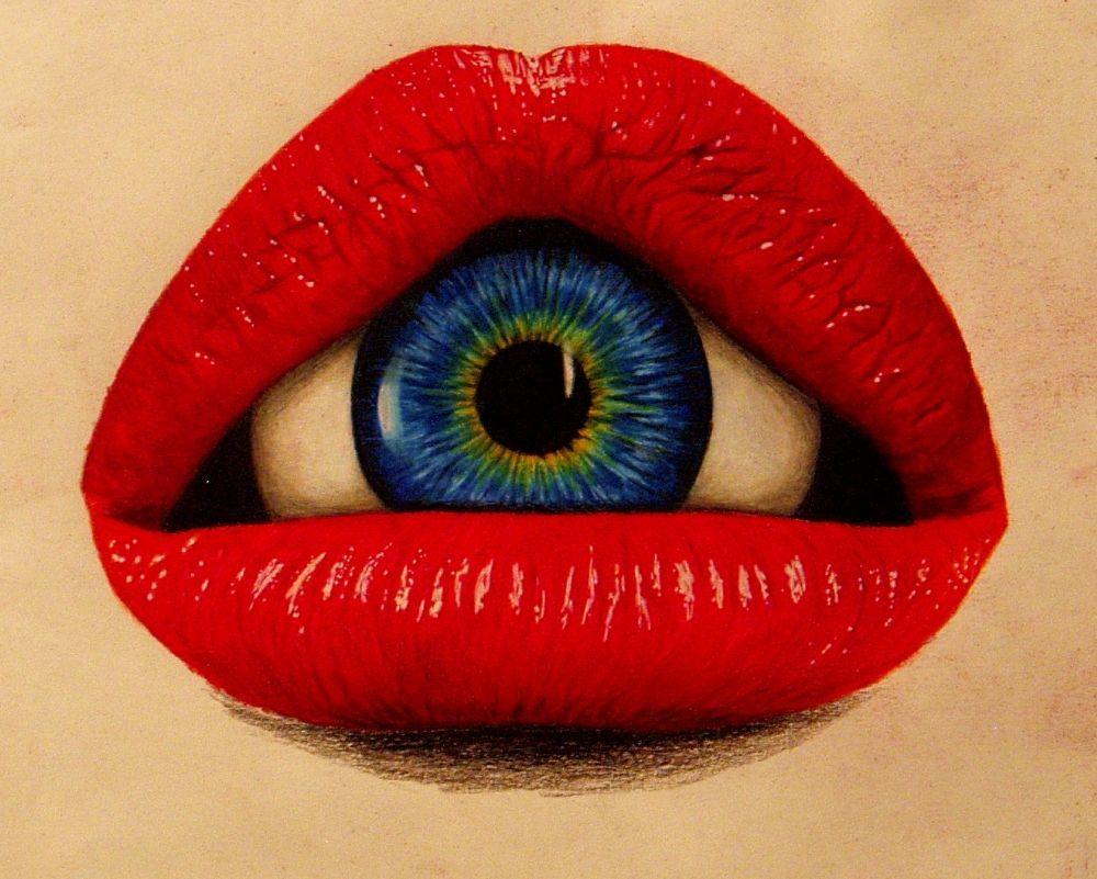 Картинки, открытки губы глаза