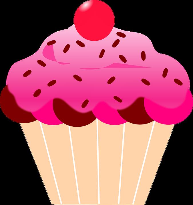 Free Image On Pixabay Cupcake Cherry Pink Icing Pink Cupcakes Cartoon Cupcakes Cupcake Pictures