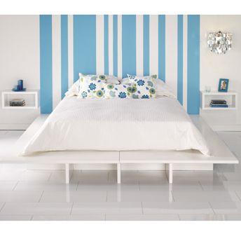 Base de lit blanche en MDF pour la chambre