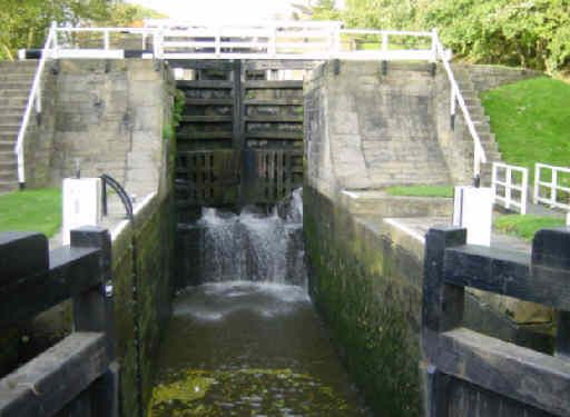 Empty Lock Chambers Canal Boat Canal Canals