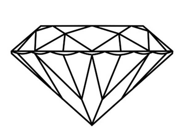 Diamond Shape Beautiful Diamond Shape Coloring Pages