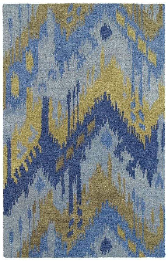 Kaleen Casual Castaway Ikat Blue Rug Rugs Usa Labor Day