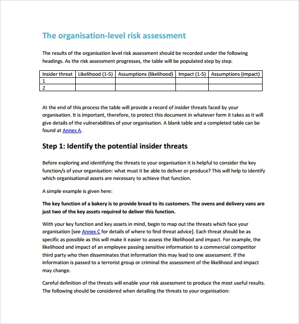 Physical Security Risk Assessment Report Template 5 Professional Templates In 2020 Assessment Checklist Assessment Security Assessment