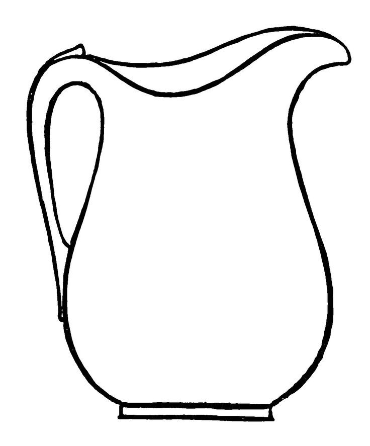 Line Drawing Jug : Pitcher coloring pages google search craft ideas