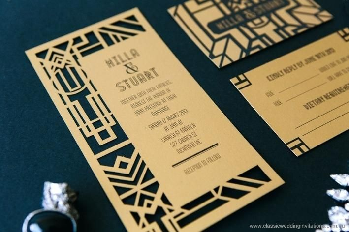 Idea 1920s Style Wedding Invitations For Full Size Of Rustic Kits As Well