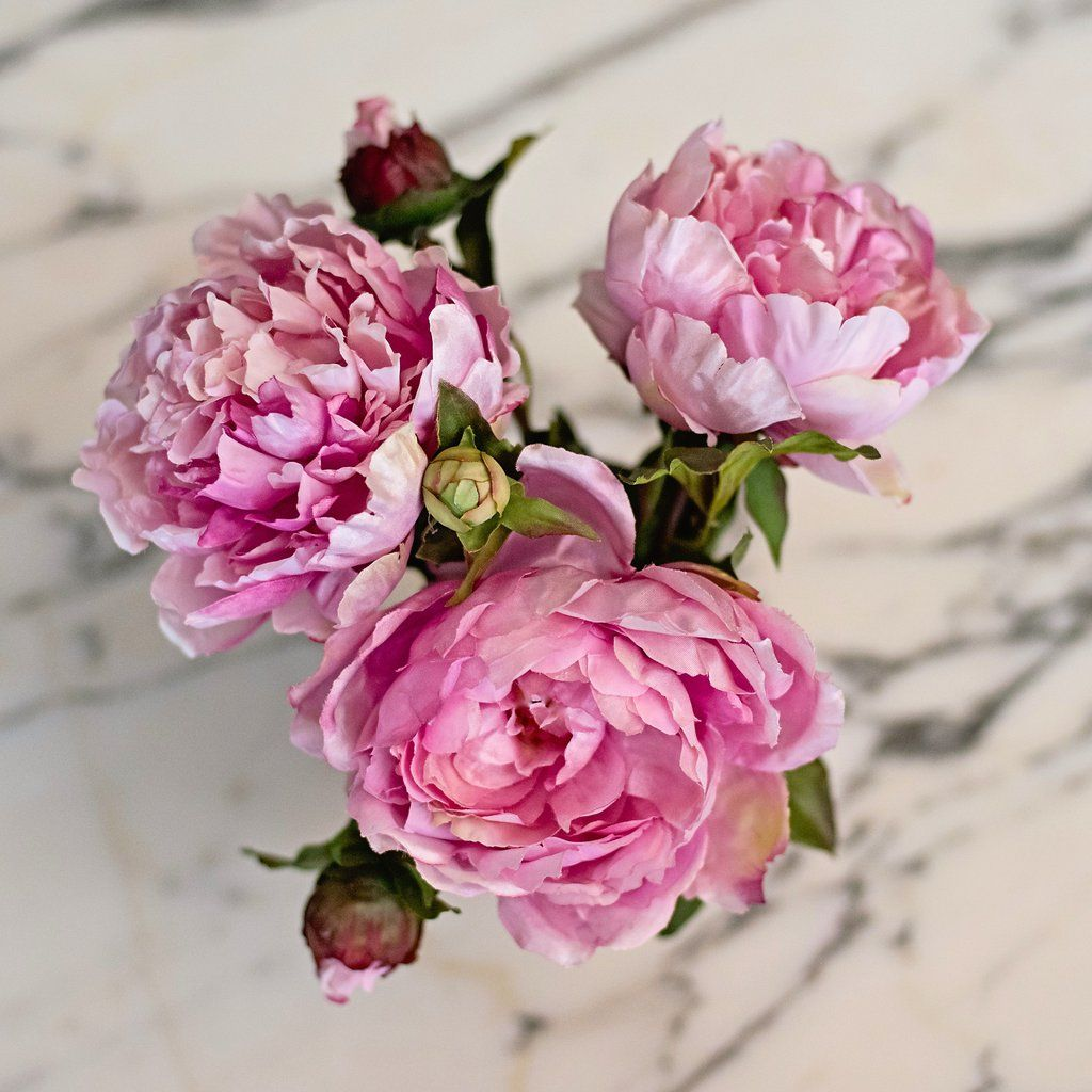 Pink Open Peony Flowers Pinterest Faux Flowers Silk Flowers