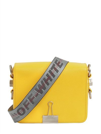 79691068427f OFF-WHITE Binder Clip Saffiano Leather Bag