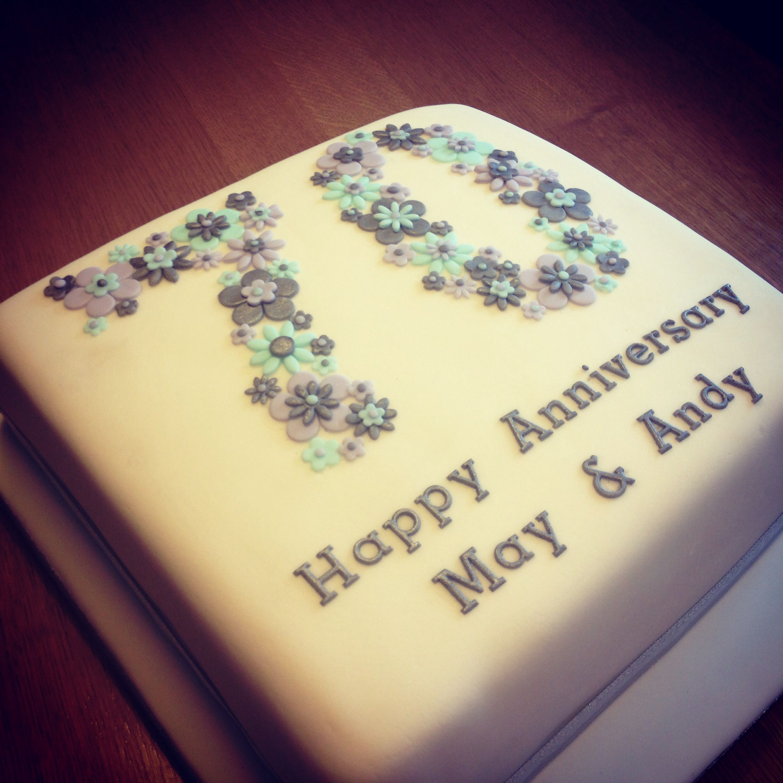 Anniversary cake 70th wedding anniversary cake