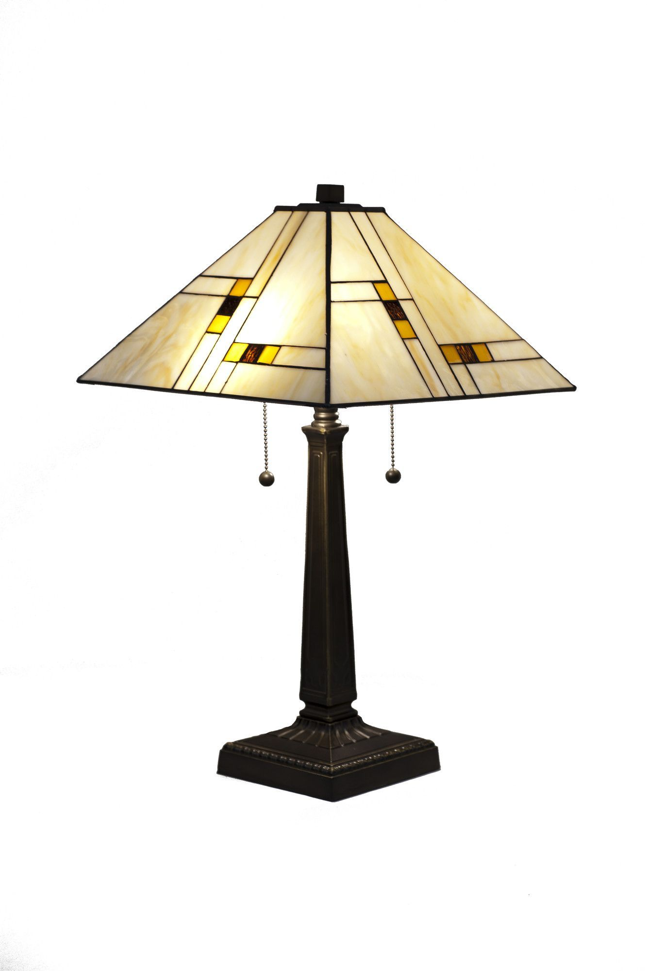 Dynamicway Serena D Italia 23 H Table Lamp With Empire Shade Bronze Table Lamp Table Lamp Stained Glass Lamp Shades