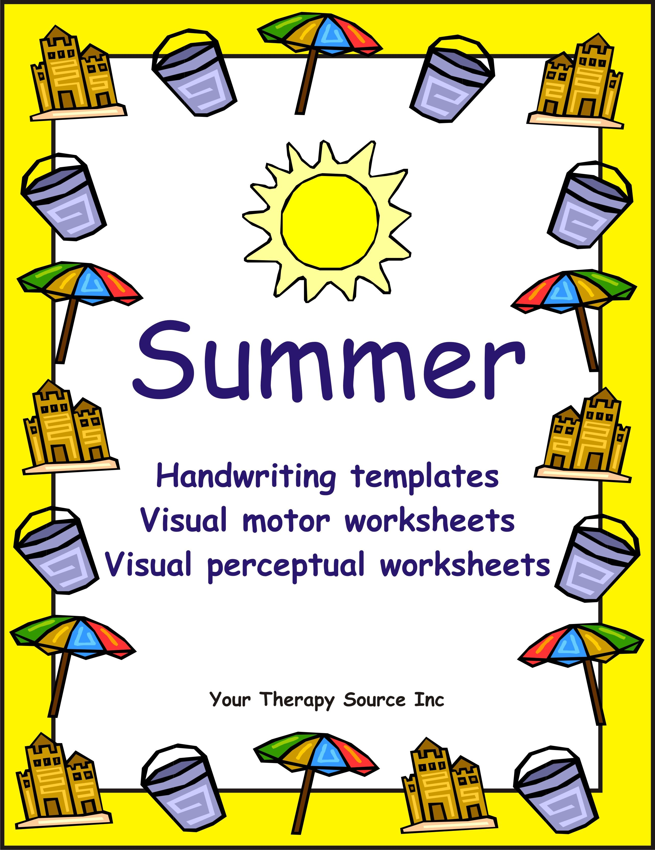 Summer Handwriting Activities Your Therapy Source Handwriting Template Handwriting Activities Improve Your Handwriting [ 3332 x 2570 Pixel ]