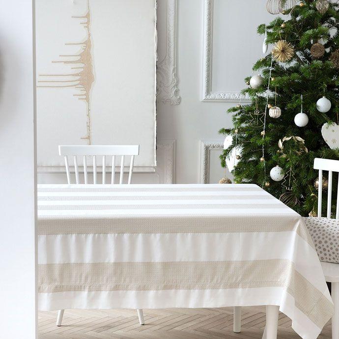 Mantel y servilletas jacquard rayas dorado  Mesa  Navidad  Zara Home Espaa  Wishlist Home  Manteles Mesas y Servilletas
