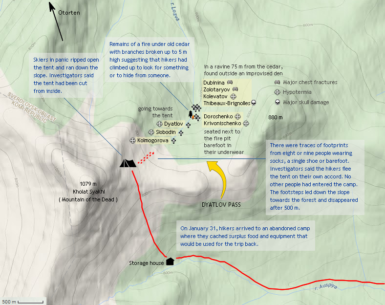 Dyatlov Pass map | Dyatlov Pass Incident | Ural mountains