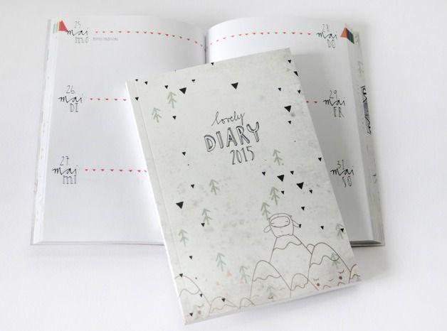 """Taschenkalender - """"lovely diary"""" Taschenbuchkalender 2015 - ein Designerstück von HerrPfeffer bei DaWanda"""