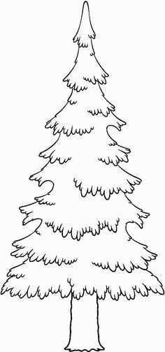 kids under pine trees coloring pages | pine trees coloring pages - Google Search | Tree coloring ...