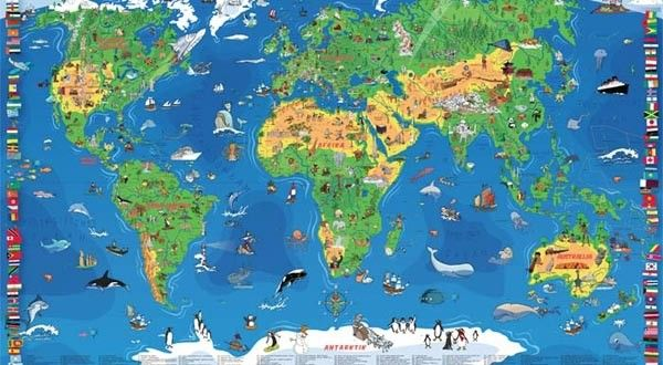 Decija Karta Sveta Map Kids World Map Maps For Kids