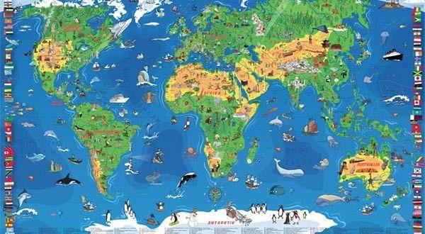 Karta World.Xxl Decija Karta Sveta Nova Kartografija Roditelj Srbija