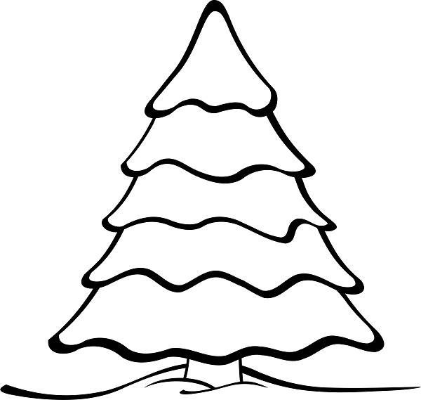 Christmas Tree Outline Printable Template Clip Art Images Christmas Tree Coloring Page Christmas Tree Template Christmas Tree Pictures