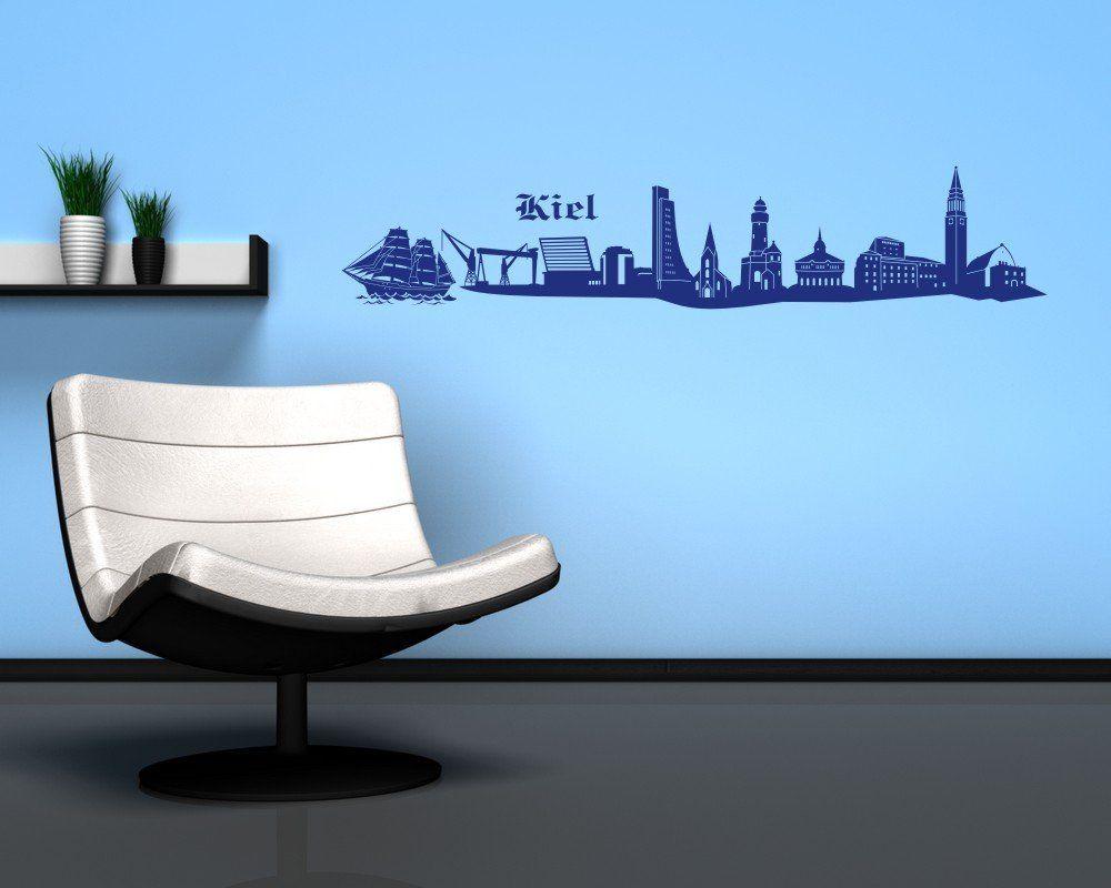 Kiel Wandtattoo Skyline viele Farben in 3 Größen und 10 Farben ...