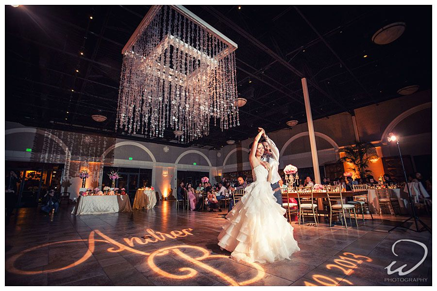 30 Candle Iron Chandeliers Dance Floor Gobo Patterns Custom Monogram And Wall Washes Event Lighting Pinterest Wedding