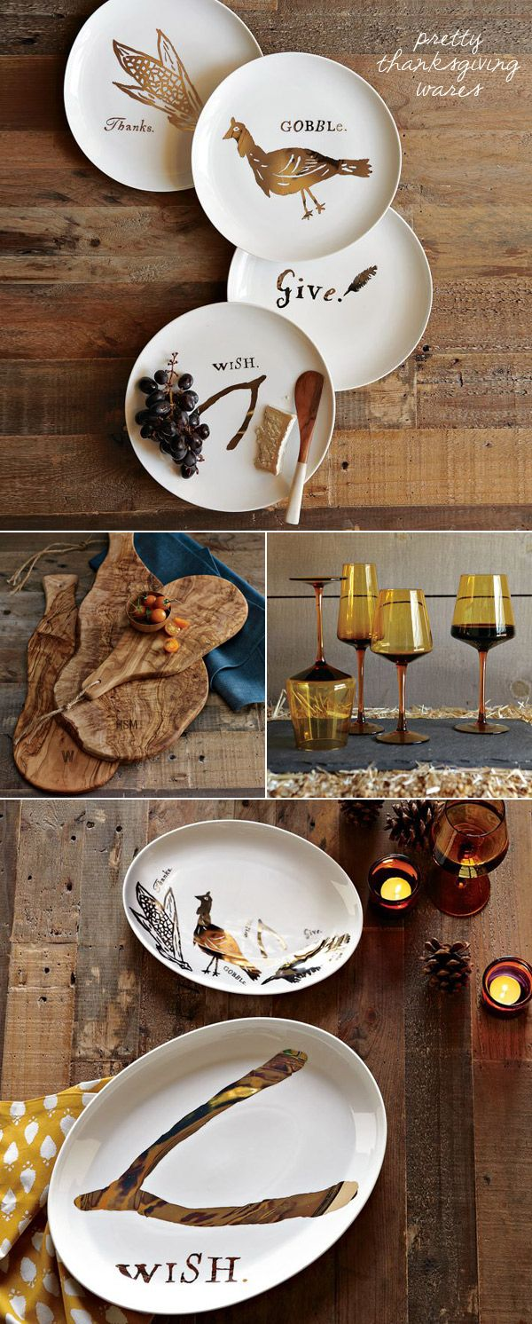 Thanksgiving dinnerware · you could buy your own simple white plates and add your own decal or paint them & Pretty Thanksgiving Wares | Thanksgiving White plates and Ware FC