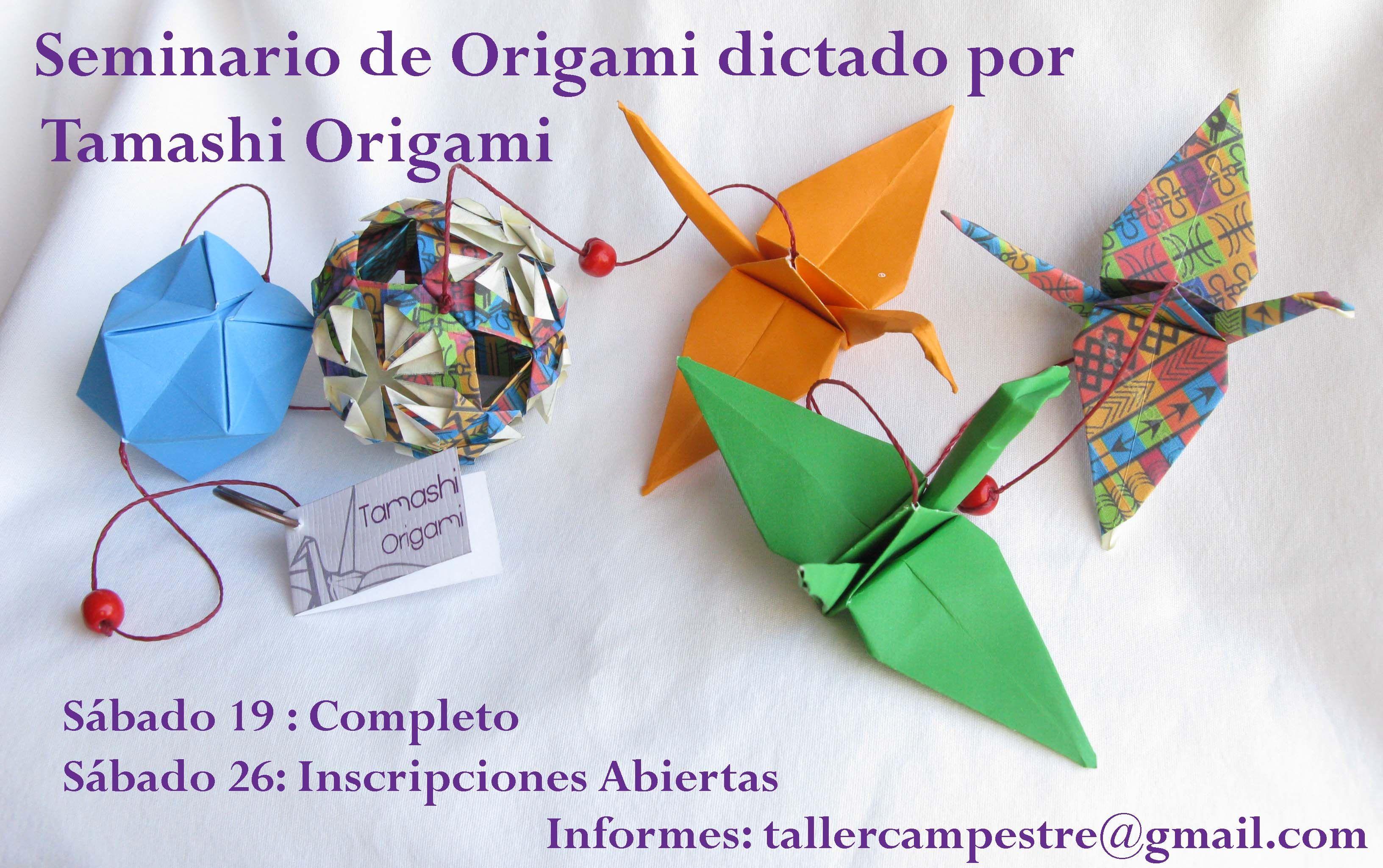 Seminario de Origami, dictado por Tamashi Origami. Inscripciones abiertas.