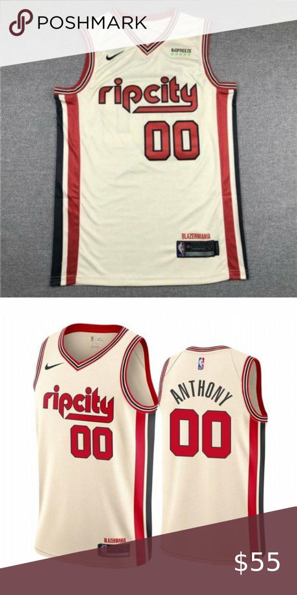 Portland Trail Blazers Carmelo Anthony Jersey 0 Brand New With Tag True To Size Fully Stitc Trail Blazers Portland Trailblazers Lebron James Black Jersey