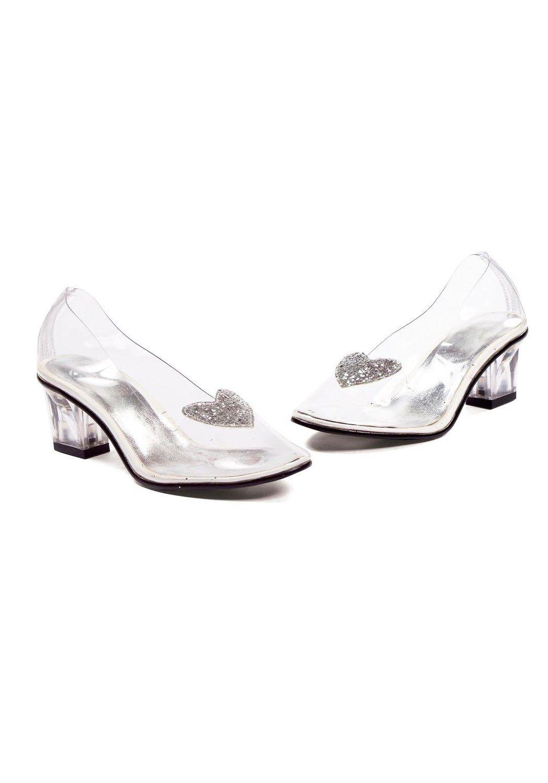 12282d953fa6 Amazon.com: Ellie Shoes Kids Cinderella Costume Glass Slipper Heels Girls  Shoe: Toys & Games