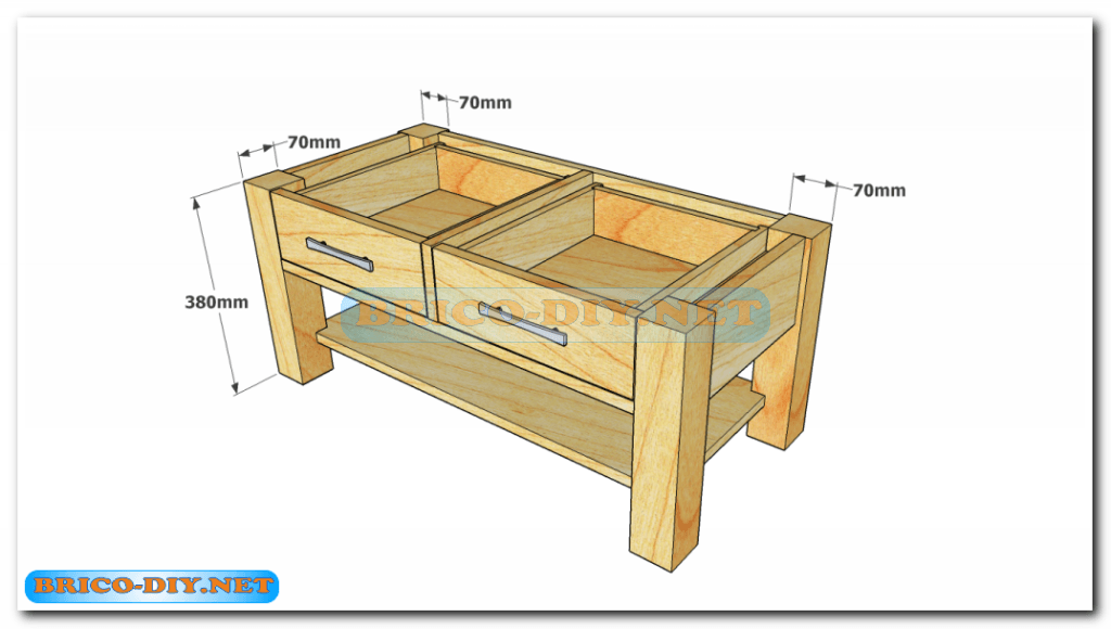 Plano como hacer mesa de centro madera web del bricolaje for Programa para fabricar muebles de melamina gratis