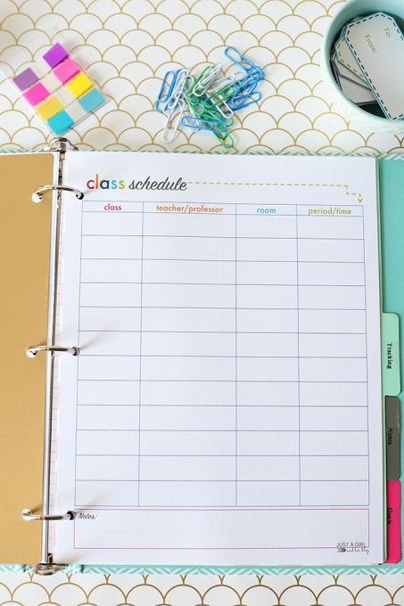 Student Binder for Back-to-School (with Free Printables!) | Student ...