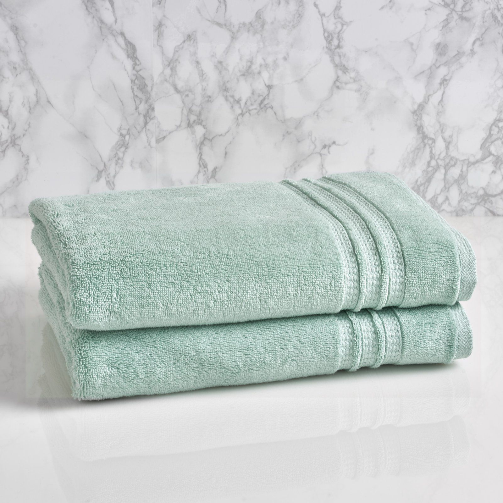 Loft By Loftex Essentials Solid Cotton Bath Towel Sterling Blue