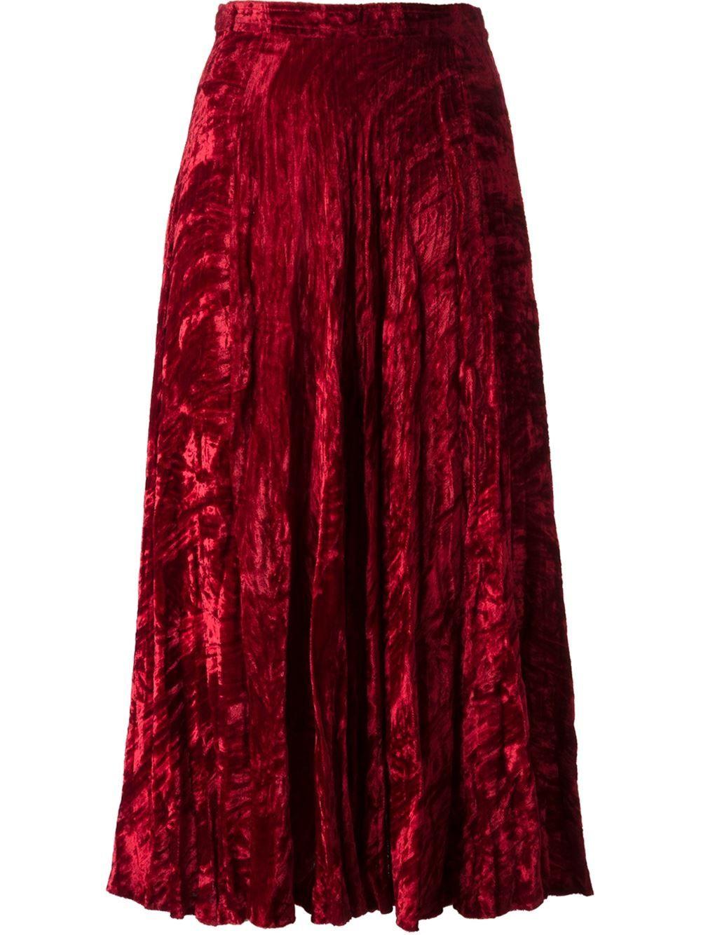 Yves Saint Laurent Vintage Velveteen Long Skirt - Dressing Factory - Farfetch.com