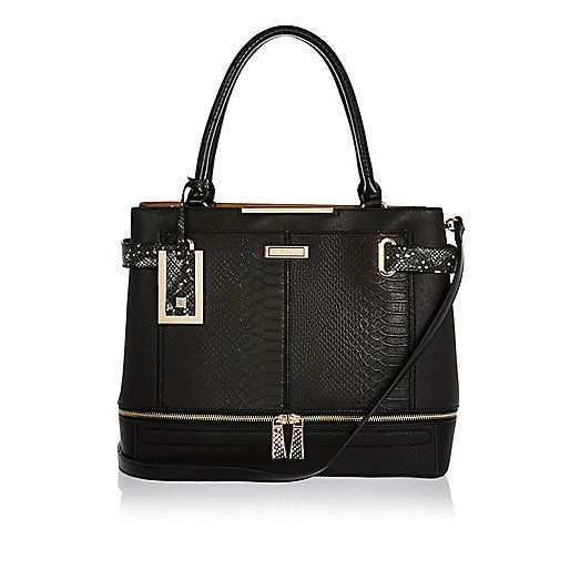 Black River Island Large Tote Handbag