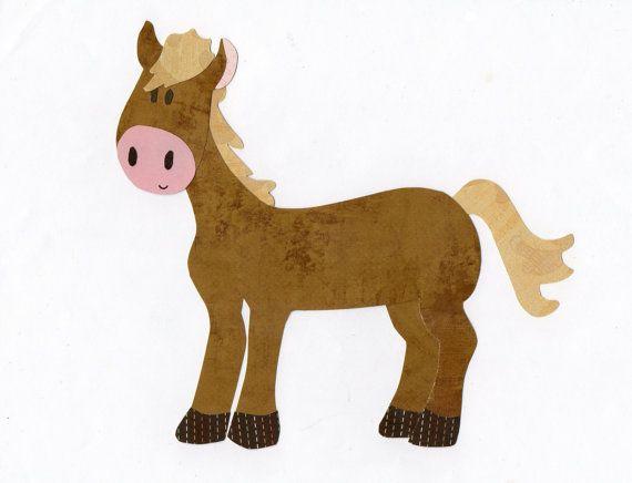 Farm animal horse applique template quilt it kids applique