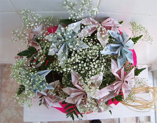 Ramos De Billetes Para Bodas Origami Pinterest Wedding Gifts