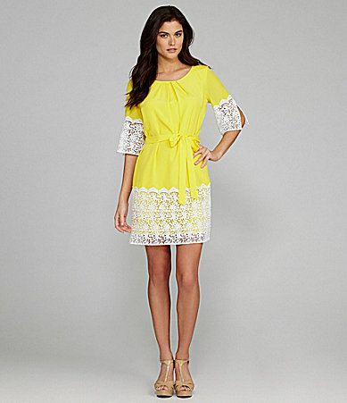 b26469dff84 Gianni Bini Nancy LaceDetail Dress  Dillards I would love to have this dress  for Easter Sunday!