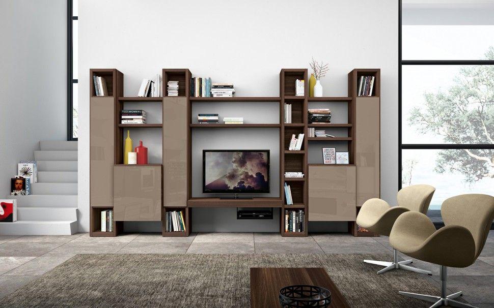 Olmo Dark Visone Lux Books Bookshelf ColombiniCasa Living