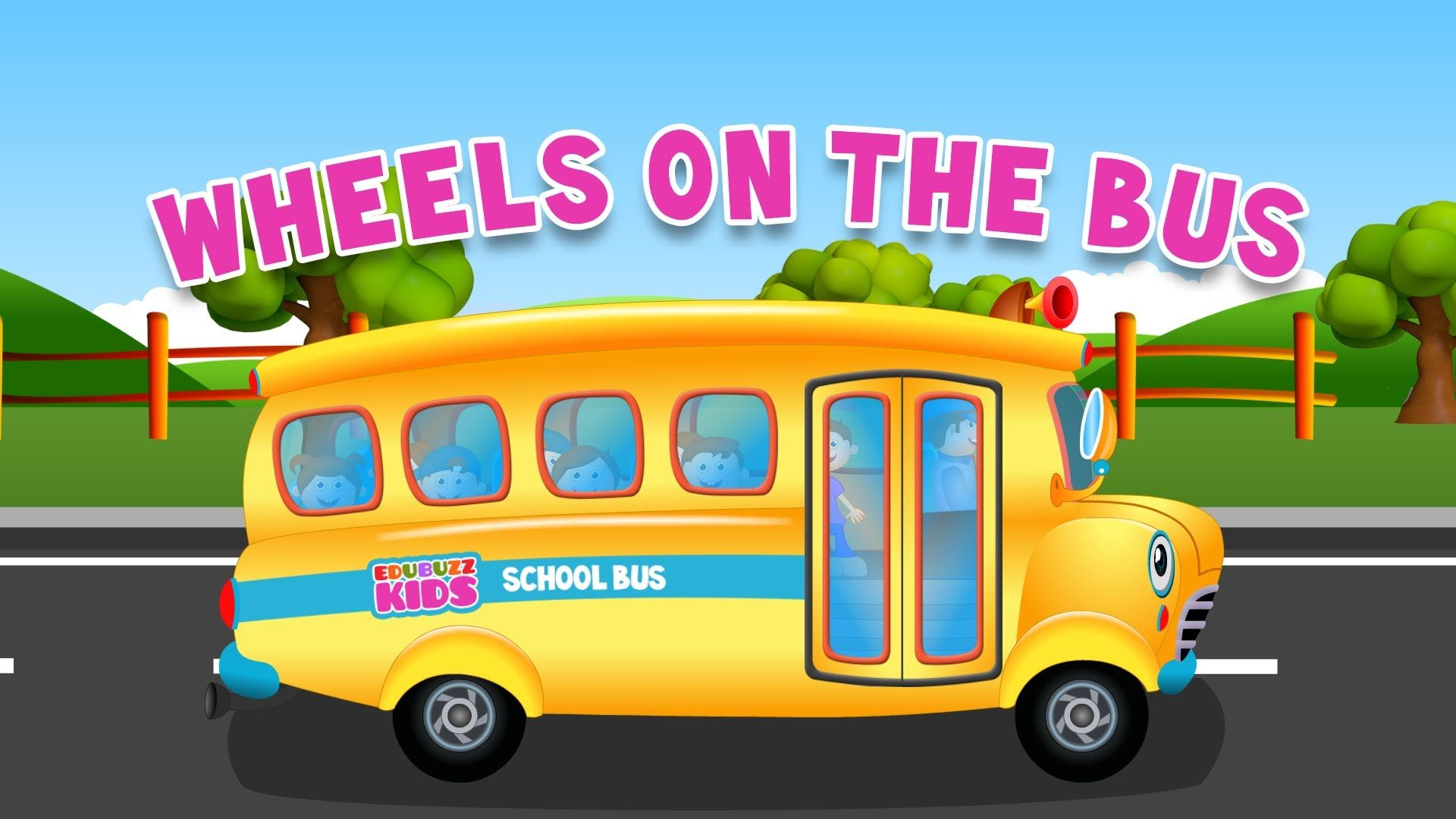 Wheels On The Bus Go Round And Round Nursery Rhyme For