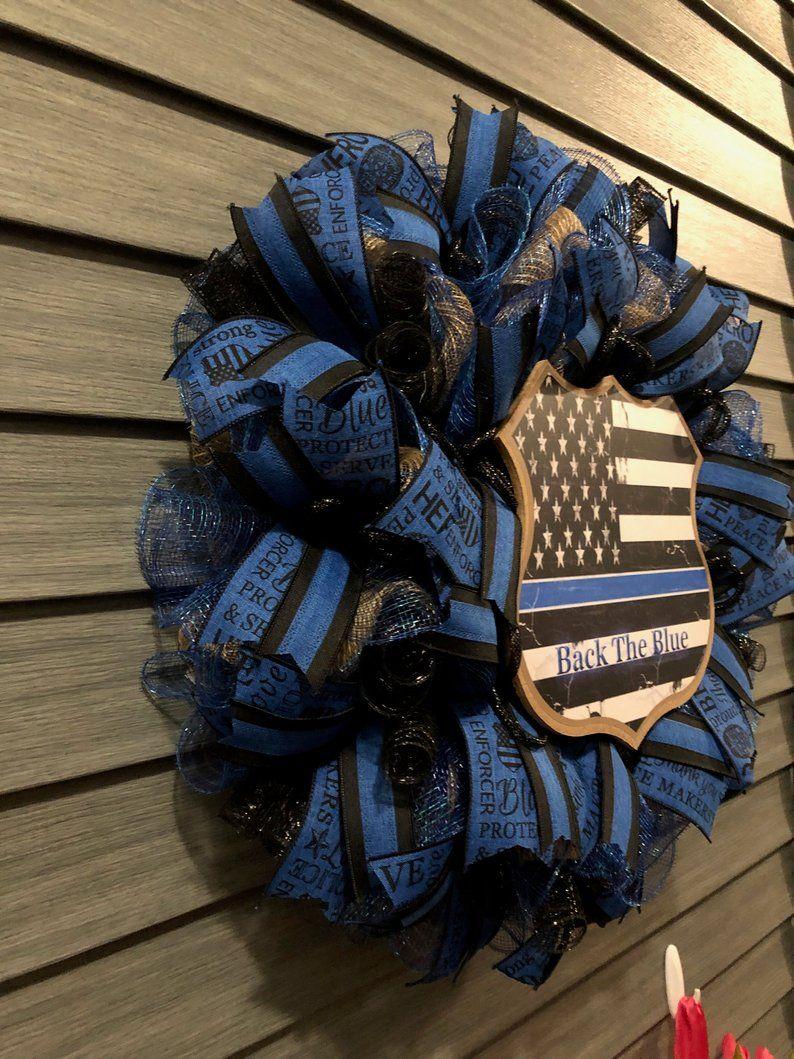 Back The Blue Wreath 22