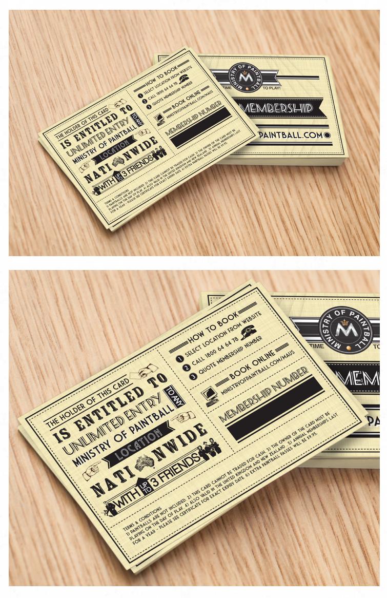 Retro Membership Card Design  Stuff