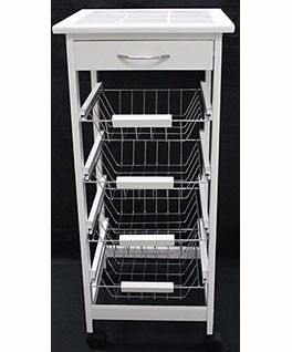 Carro organizador cocina verduras madera cajones estantes for Diseno de muebles con cajones de verduras