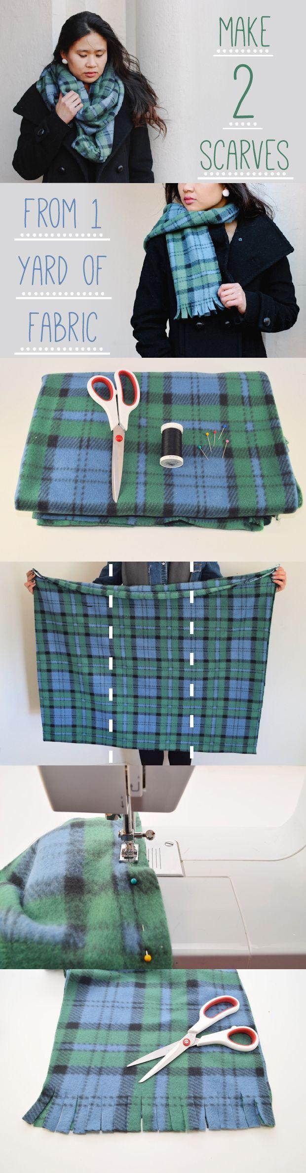 how to make a flannel fringe blanket