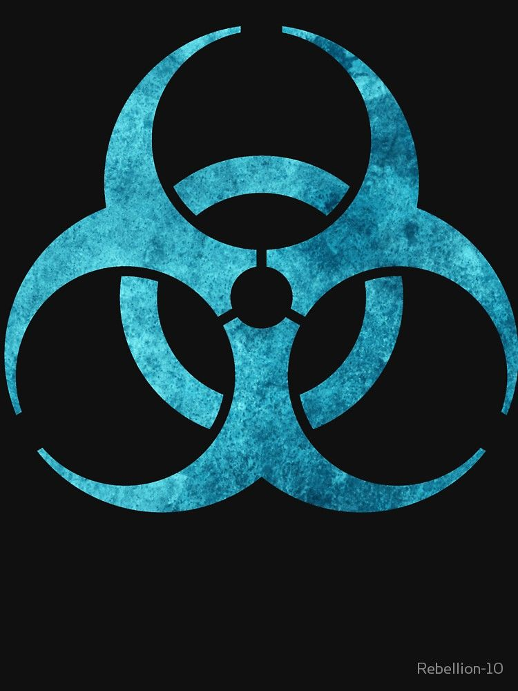 Blue Biohazard Symbol Unisex T Shirt In 2018 A Pinterest