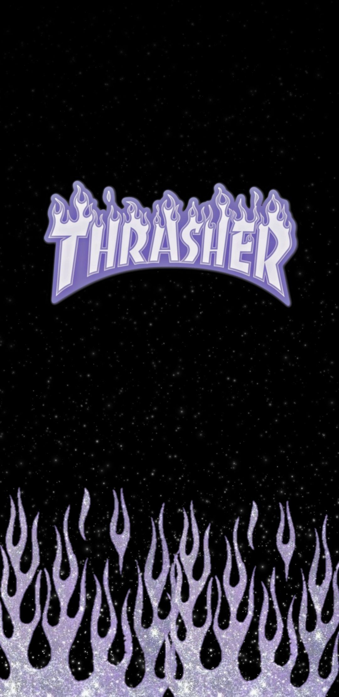 Purple Glitter Thrasher In 2020 Iphone Wallpaper Pattern Black And Purple Wallpaper Aesthetic Iphone Wallpaper
