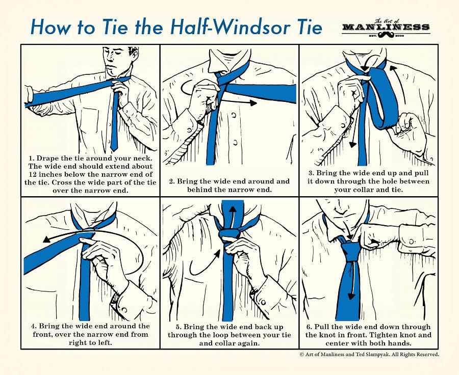How To Tie A Tie The Complete Guide The Art Of Manliness Windsor Tie Half Windsor Windsor Tie Knot