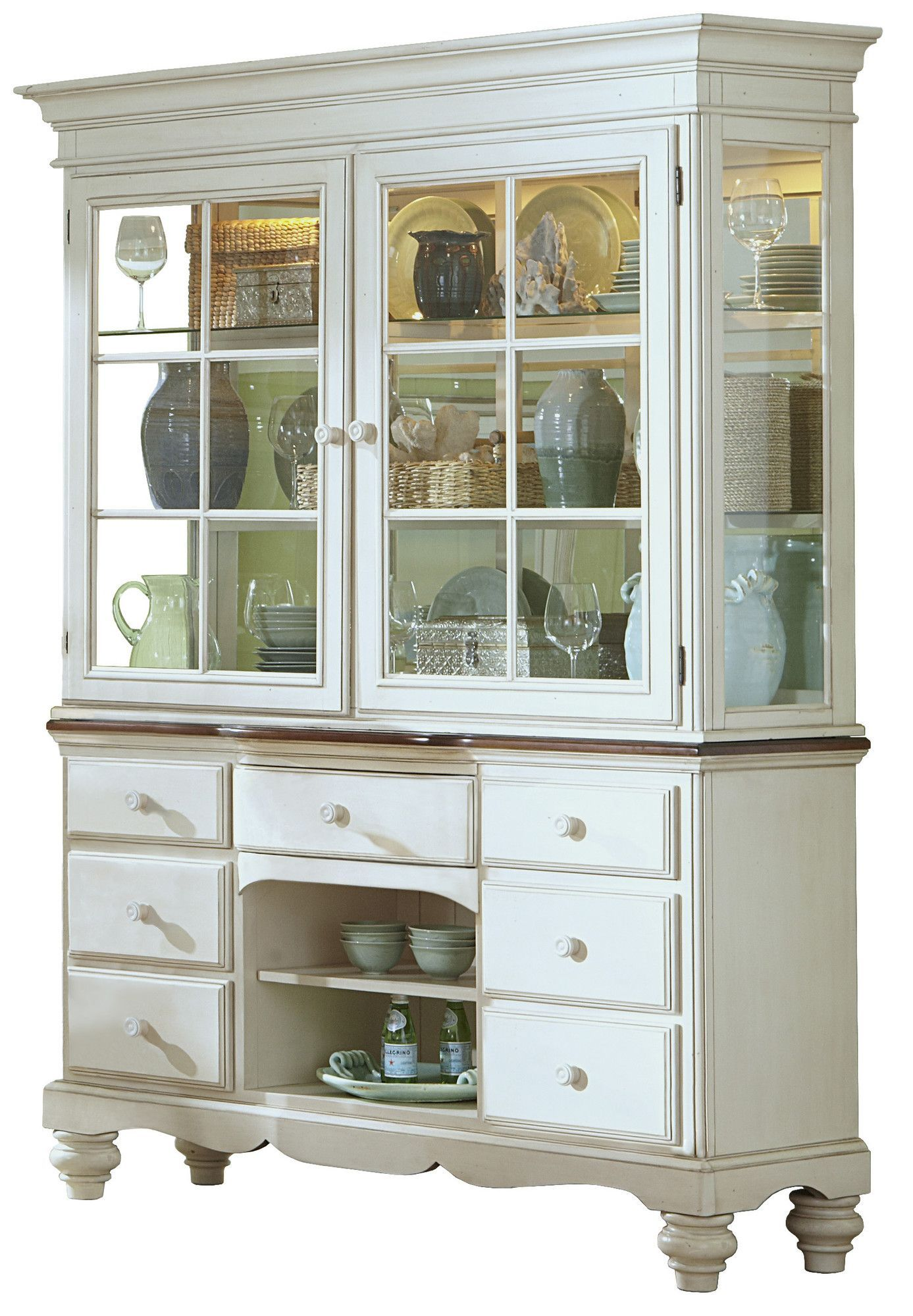 Solid Pine China Cabinet | china cabinet display | Pinterest ...